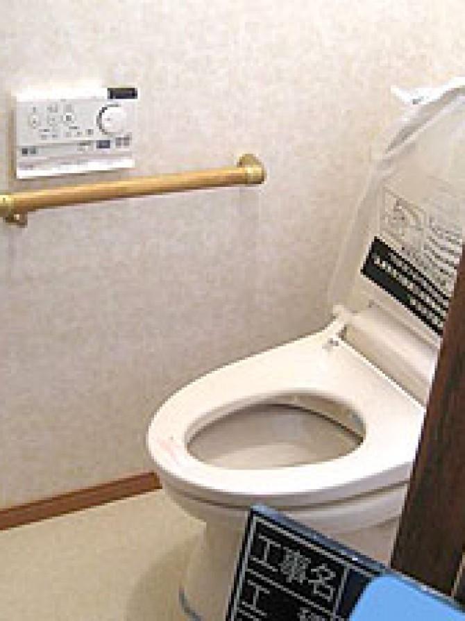 高齢のためしゃがめなくなったので和式トイレを洋式トイレに替えた住宅改修