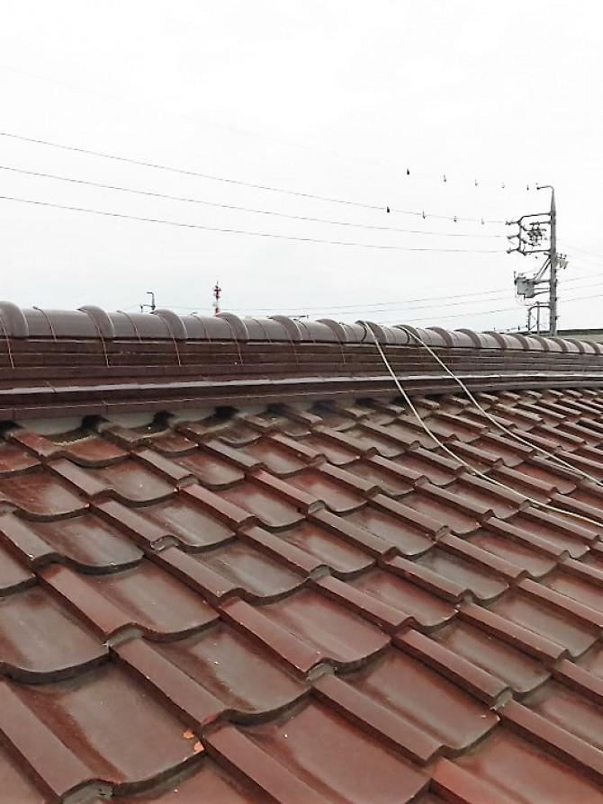 大屋根棟積み替え工事