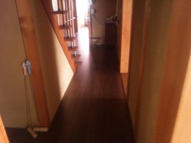 フワフワの床をリフォーム
